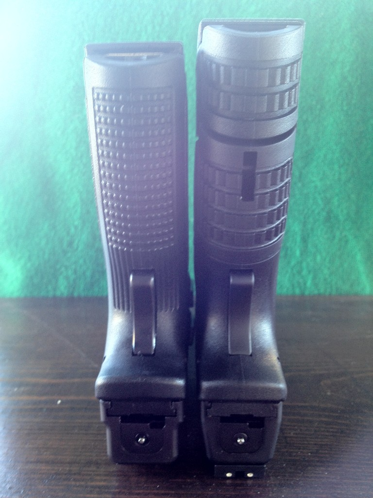XD .40 v. XDm .45 Compact Grip Length